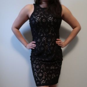 H&M Black Lace Dress Size Medium